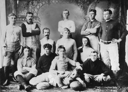 Football Team from 1894 - Look how different this team is from our teams today!