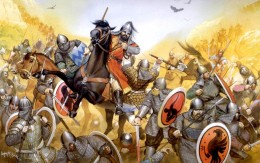 BATTLE AT MANZIKERT AGAINST THE  MUSLIM TURKS