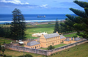 An old building on Norfolk Island, steeped in history.
