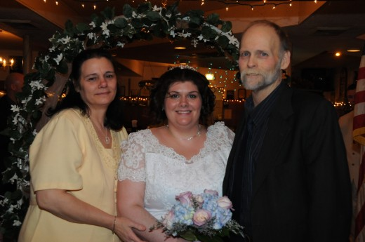 My parents and I the day I got married, the day before my dad went into the hospital last time