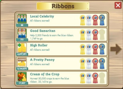 The Ribbon Quests, accomplish them as many as you can to obtain extra coins, experience and items.