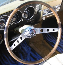 The special steering wheel