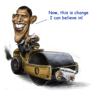 Rollin' on back home, Obama can't seem to keep his head up when he's out on the road!