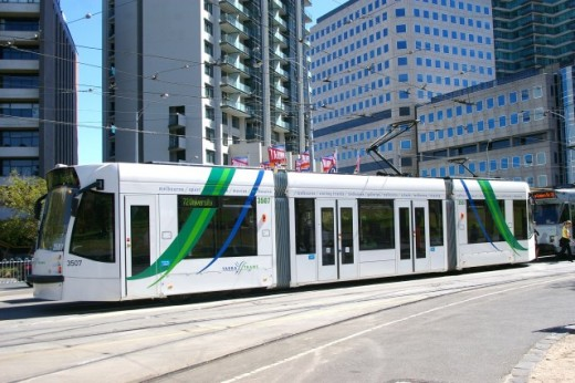 You can choose to ride the new trams or the old ones in Melbourne.