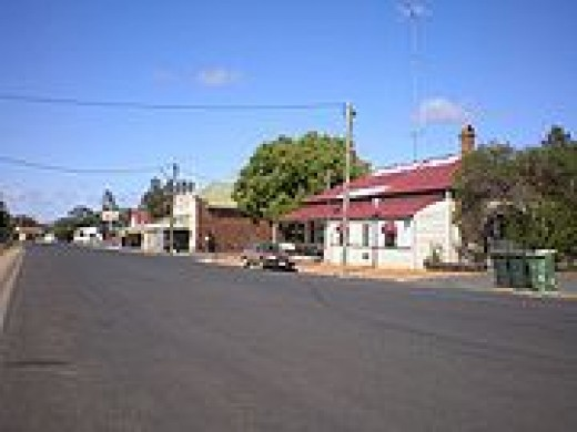 One of the many little towns in the region.