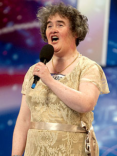 Susan Boyle before the Harper's Bazaar Magazine makeover
