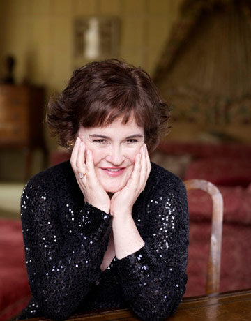 Susan Boyle looking fabulous after her makeover.