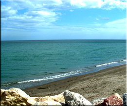Another view of the Mediterranean at Sabinillias, close to my appartment