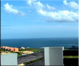 View from my lower balcony over the development and towards the Mediterranean in La Duquesa