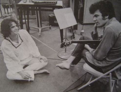 Kooper (at left) with Mike Bloomfield