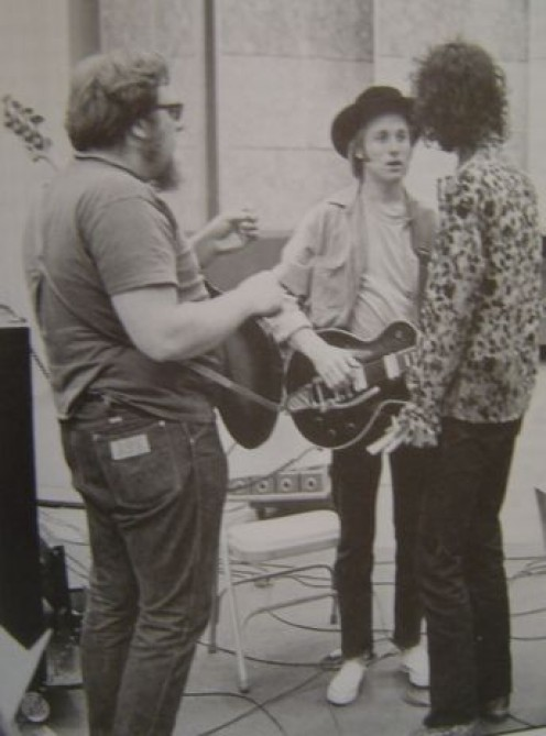 Kooper (at right) with Stephen Stills and Harvey Brooks