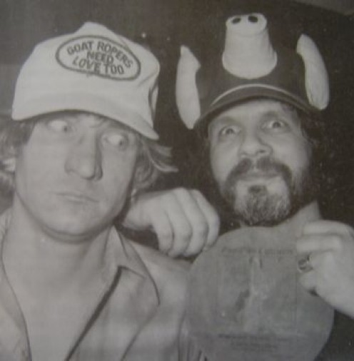 Kooper (at right) with Joe Walsh
