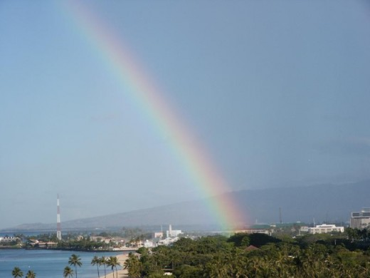 Hawaiian rainbow after a short rain. Beautiful, isn't it?
