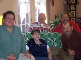 Four of the five brothers with a cousin at a recent family reunion.