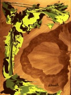 AMORPHOUS ANDROMEDA - fluidism original painting, Robert Kernodle, 2000