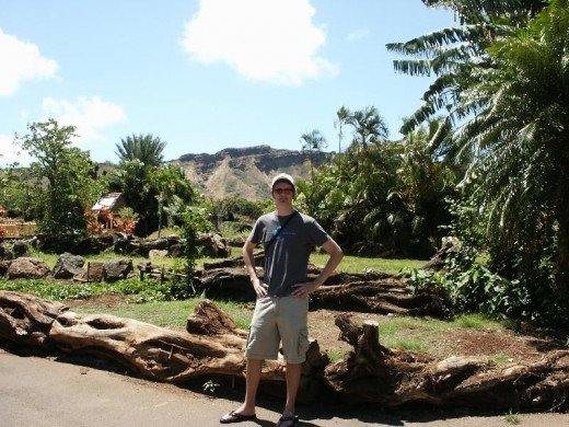 Here I am in the Honolulu Zoo!