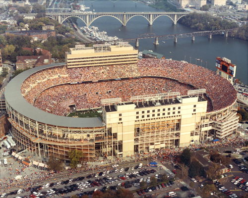 Northwest view of Neyland Stadium