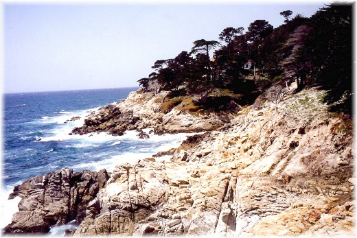 Famous 17 mile drive image along the California coastline