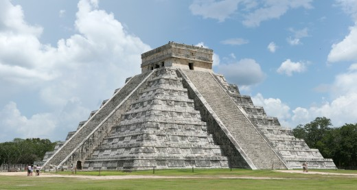 This is the famous Pyramid that the Plume Serpent shadow slithers down the staircase twice a year!