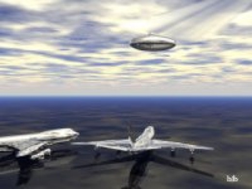 An artist's depiction of the alleged UFO.