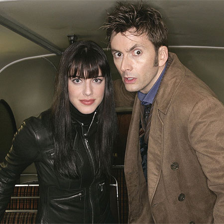 "Lady Christina de Souza and The Doctor. An inside Omnibus scene of the episode ""Doctor Who: Planet of the Dead""."
