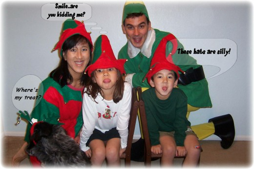 Kids did not take kindly to the elf-wear!