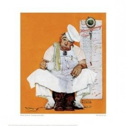 Thanksgiving Day Blues Giclee Poster Print by Norman Rockwell from Amazon.com