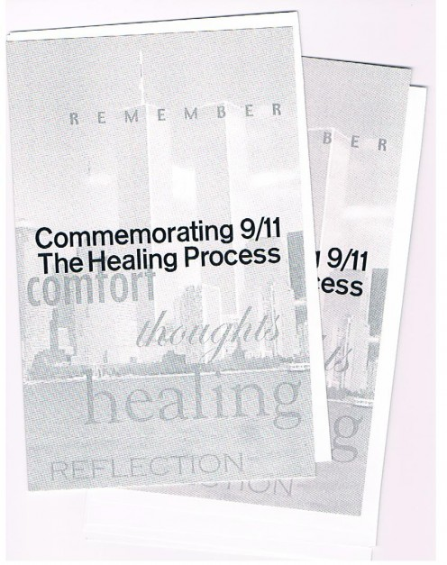 Shown are programs from a memorial commemoration at the College of Physicians & Surgeons at Columbia University Medical Center.