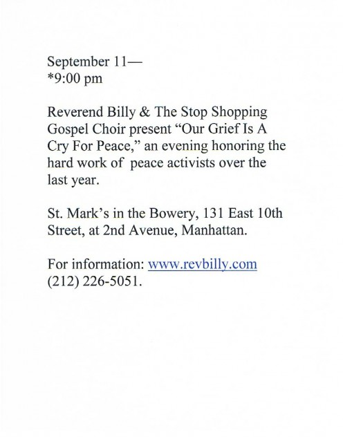 I found this at St. Mark's Church in the Bowery where activist Reverend Billy has held a lot of his revivals. An interesting man - check him out and his Church of Life After Shopping at revbilly.com