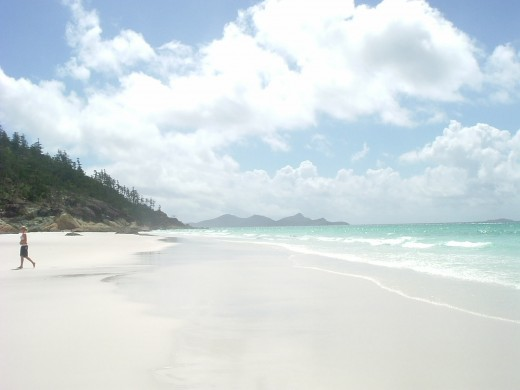 The beaches on the Islands are so white.