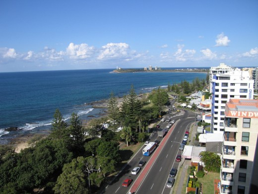 A view from an apartment at Mooloolaba on the Sunshine Coast