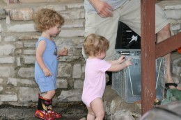 Playing with your children, gives them the courage to accomplish all their dreams (and to climb scary steps)