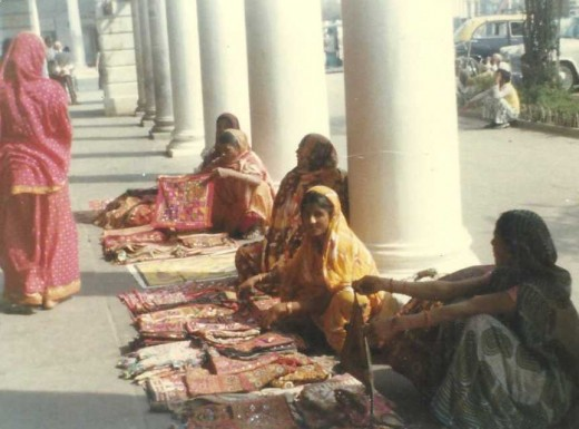 Women vendors in New Delhi