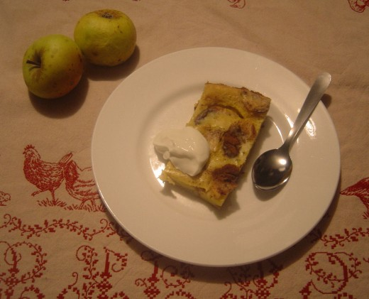 We often serve apple Flognarde at Les Trois Chenes Chambres d'hotes