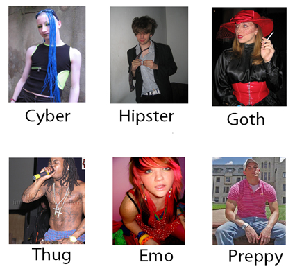 Examples of youth subcultures