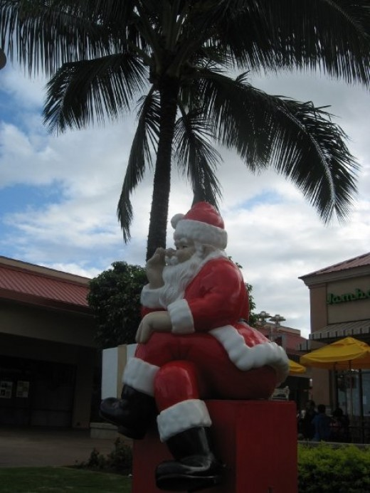 Santa in Hawaii