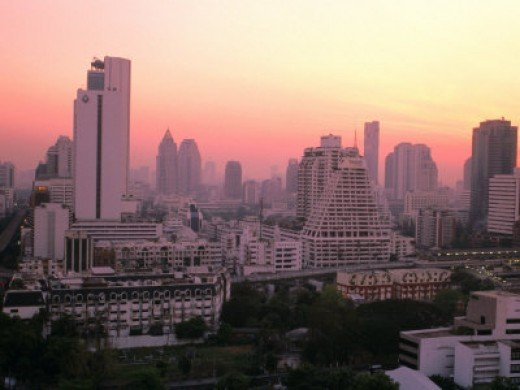 Sunset on Bangkok
