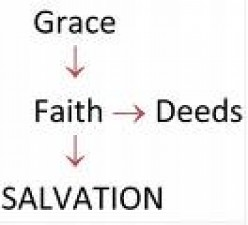 Not SAVED by deeds!