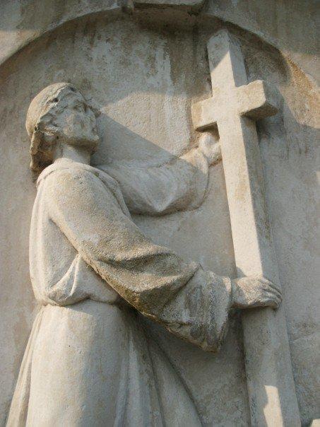 Carving on John Bunyan's Grave