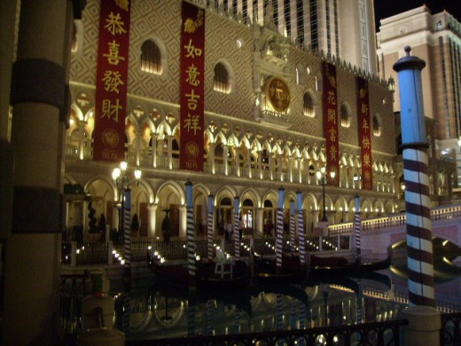 The Venetian in Las Vegas decked out for Chinese New Year