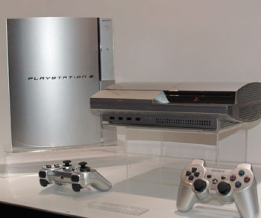 Silver PlayStation3 with Controllers