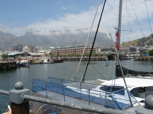 Cape Town with Table Cloth over Table Mountain