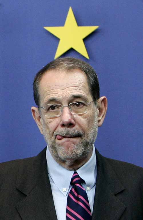 Javier Solana  Secretary General of the Council of the European Union, High Representative for EU Foreign Policy.