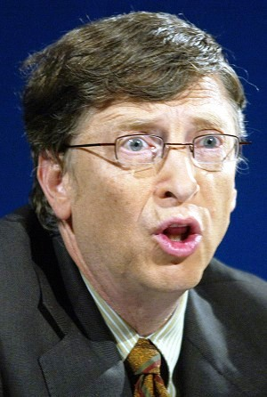 Bill Gates  founder of Microsoft, philanthropist