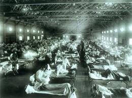 Soldiers stricken by Spanish flu