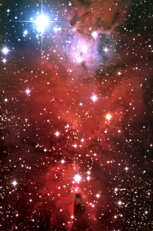 Cone Nebula, which looks like Jesus