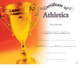 This certificate of participation for athletes is a great way to reward effort.