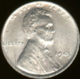 1943 Silver Penny - Made Out Of Steel, Coated With Zinc, To Save Copper For War Efforts At The Time