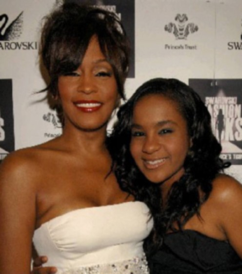 Whitney and her beautiful daughter Bobby Kristina