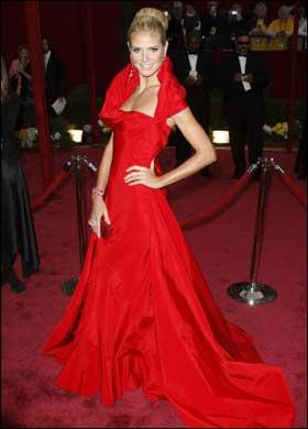 Heidi Klum in a John Galliano dress
